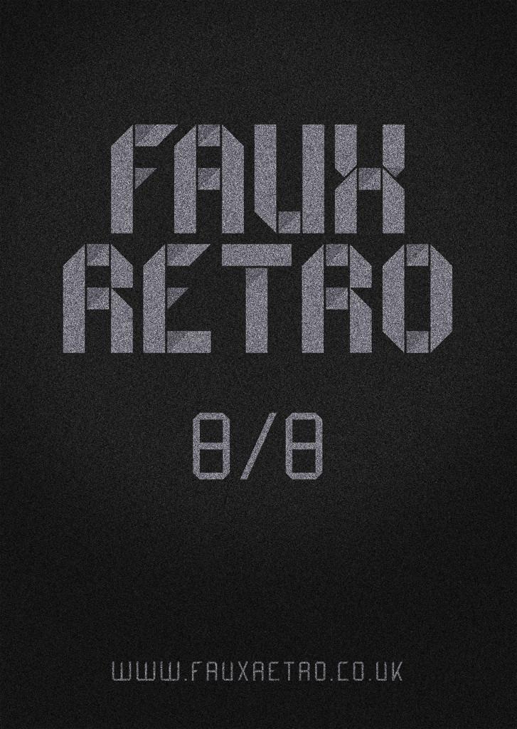 Faux Retro Poster A2
