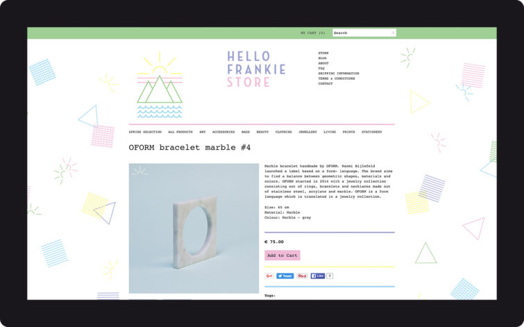 Hello Frankie-Store post-Hello Studio